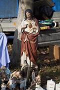 Religious figures at a market Stock Photos