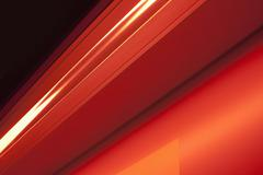 Close-up abstract of slanted red shape - stock photo