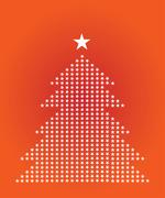 Xmas tree illustration Stock Illustration