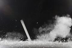 A fluorescent tube shattering Stock Photos