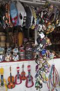 A souvenir stall, Merced Market, Mexico City, Mexico Stock Photos