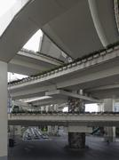 Series of intersecting overpasses, Shanghai, China Stock Photos