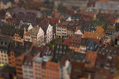 Tilt-shift of an abundance of apartment buildings in a residential district, Stock Photos