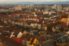 Stock Photo of Tilt-shift of an abundance of apartment buildings in a residential district,