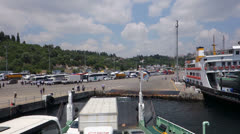 View from ferry in Istanbul Turkey (Editorial) Stock Footage