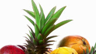 Stock Video Footage of fresh raw tropical fruits