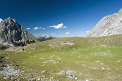 A valley in the Wetterstein Mountains, Austria Stock Photos