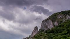 Turzii Gorge Cliff Time lapse Stock Footage