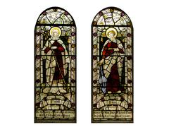Stain glass window - stock photo