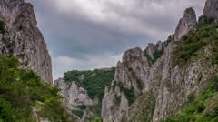 Turzii Gorge Cliffs Time lapse Stock Footage