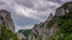 Turzii Gorge Time lapse zoom Stock Footage