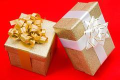 beautiful gifts - stock photo