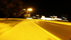 City night drive Stock Footage