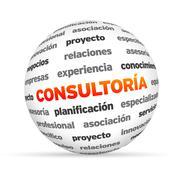 Consulting sphere (in spanish) Stock Illustration