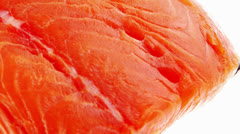 Big salmon chunk with rosemary Stock Footage
