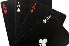 Poker of aces Stock Photos