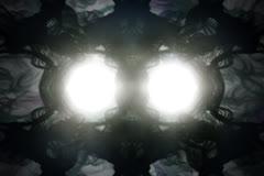 Fancy Strange Phenomenon With Bright Eyes Stock Footage