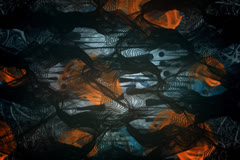 Underwater Environment And Orange Aliens - stock footage