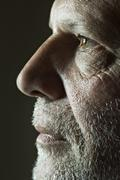 Side view of a mature man Stock Photos