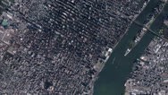 Stock Video Footage of aerial view of New york Manhattan,spectacular city landscape.