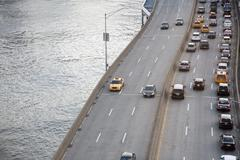 FDR Drive beside the East River in New York Stock Photos