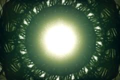 Bright Core Of a Green Odd Alien Stock Footage