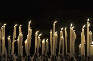 Stock Photo of Flickering flames of candles