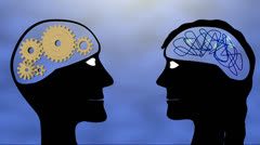 Male and female brains Stock Footage