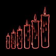 sketch step candle illustration - stock illustration