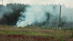 View of forest burning in rural areas Stock Footage