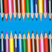 pencils of many colors - stock photo