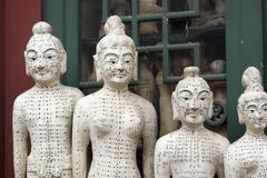 Acupuncture statues at Panjiayuan Antique Market, Beijing, China Stock Photos
