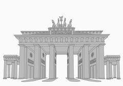 The Brandenburg Gate Stock Illustration