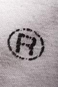 Letter A Logo on T-shirt Stock Photos