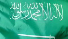 Saudi Arabian Flag Stock Footage