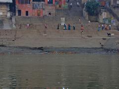 Stock Photo of hindus perform ritual puja at dawn