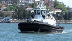 Tugboat 1.mov Stock Footage