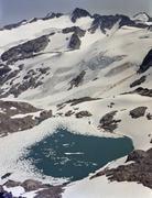 Glacial lake on Blackcomb Mountain, Whistler, Canada Stock Photos