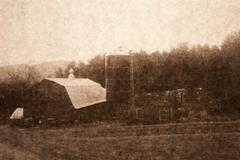 Old Photograph of farmhouse in Middlebury, Vermont, USA Stock Photos