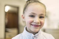 Stock Photo of Portrait of smiling girl