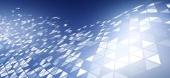 Stock Illustration of A pattern of triangles on a blue background