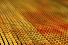Yellow and orange circular light pattern Stock Illustration