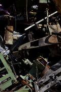 A heap of scrap metal and junk, close-up, full frame Stock Photos
