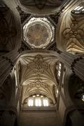Intricate designs on the ceiling inside the Seville Cathedral, Spain Stock Photos
