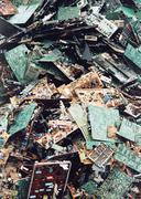 A pile of discarded circuit boards Stock Photos