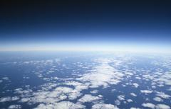 Aerial view of clouds Stock Photos