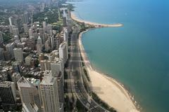 Aerial view of downtown Chicago, USA Kuvituskuvat