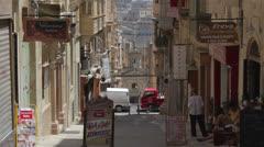 Maltese impressions - La Valletta streets _5 Stock Footage