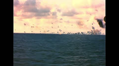 WW2 - Pacific Sea Battle 02 Stock Footage