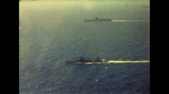 Stock Video Footage of WW2- US ships Convoy 01